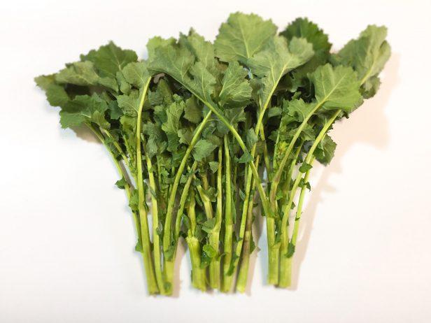 商品として収穫されたのらぼう菜