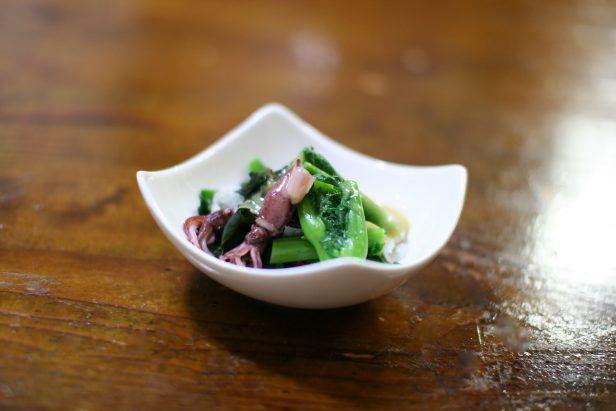ホタルイカとのらぼう菜の酢味噌和え