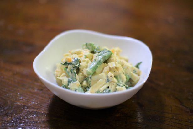 のらぼう菜と茹でたまごのサラダ